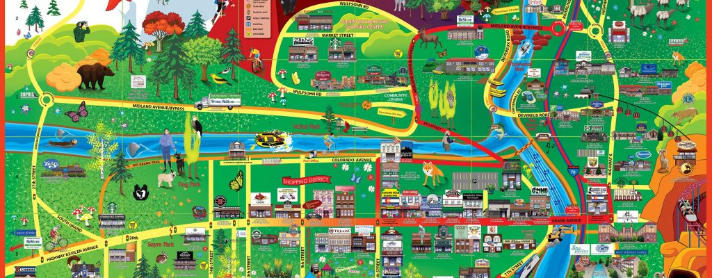 2016 Glenwood Springs Cartoon Map
