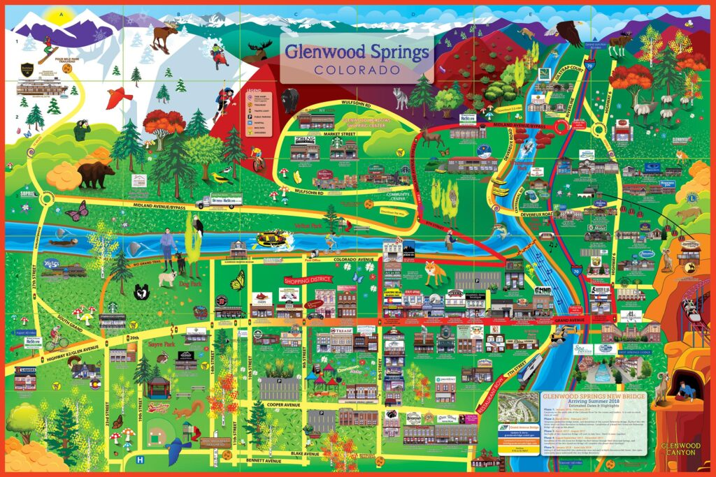 Glenwood Springs Map