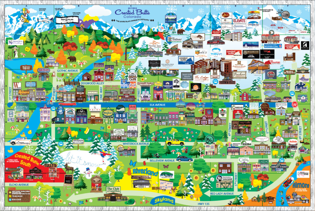2017 Paradise Publishing Crested Butte Map