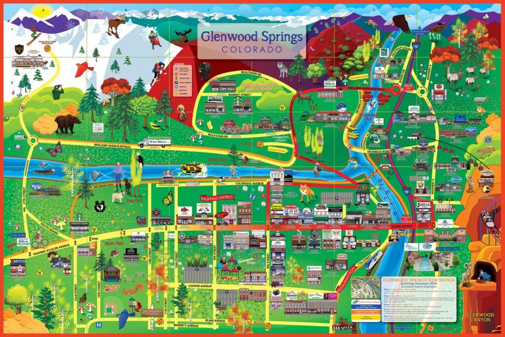 Glenwood Springs Map 2016 Glenwood Springs Cartoon Map Glenwood Springs Map