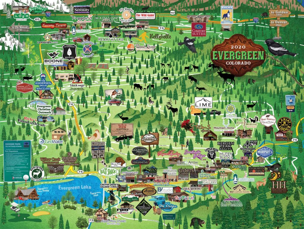 Evergreen Colorado Map